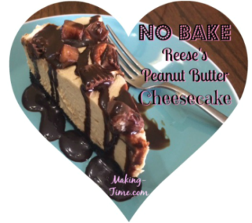 No Bake Reese's Peanut Butter Cheesecake