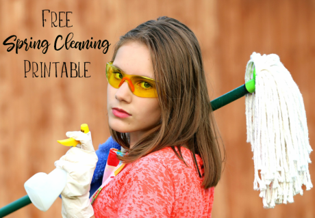 Free Printable Spring Cleaning Checklist | #SpringCleaning #FreePrintable #checklist
