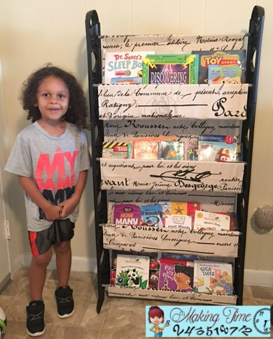 DIY Book Shelf: From shoe rack to book shelf! I'll show you how I turned an old shoe rack into a useful book shelf for my son.