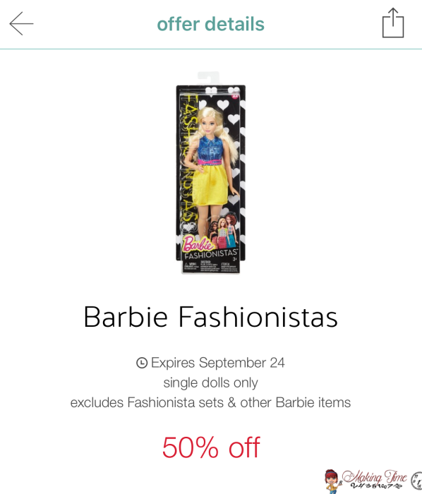 It's never too early to start gift shopping for the holidays and Target has Barbie Fashionistas for just $3.99! This is definitely a stock up deal for the upcoming holidays! #Barbie #savingmoney