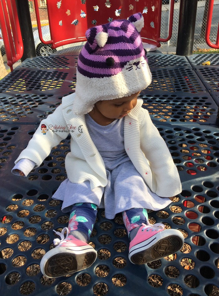 Don't let the cooler weather discourage you from dressing your little one in a dress. With layering and the perfect dress, your little one will stay warm and still look her best. #jxstarkid