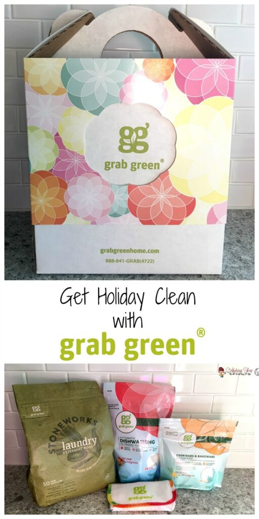 This holiday season, let Grab Green help you with the cleanup. From caked on and baked on dishes, all the way down to the kitchen linens and laundry, Grab Green has you covered! #giftidea #HolidayGiftGuide @grabgreen #giveaway