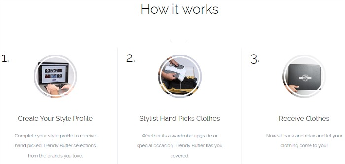 Trendy Butler is a personal Stylist and Butler, right at your fingertips! Men can build and add to their wardrobe every month without the hassle of shopping because their Trendy Butler takes care of it all. #giftidea #HolidayGiftGuide
