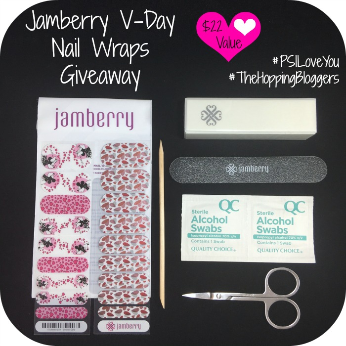 Enter to win a Jamberry V-Day Nail Wrap Prize Pack from Making Time! Then hop on over to other blogs and enter to win even more prizes from the P.S. I Love You Giveaway Hop! #PSILoveYou #TheHoppingBloggers #giveaway #entertowin