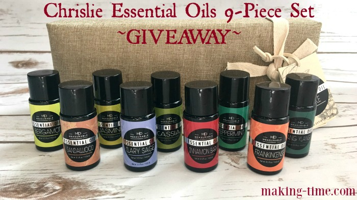 Enter to win a Chrislie Essential Oils 9-Piece Set ($46.99 retail value)! #giveaway #essentialoils #Chrislie