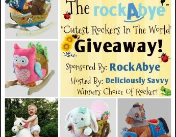 "The RockAbye ""Cutest Rockers in the World"" Giveaway! 1 lucky winner will receive a RockAbye rocker of their choice (up to $160 retail value)! Giveaway ends 3/29/17. Head over to the blog to enter! #giveaway #RockAbye"