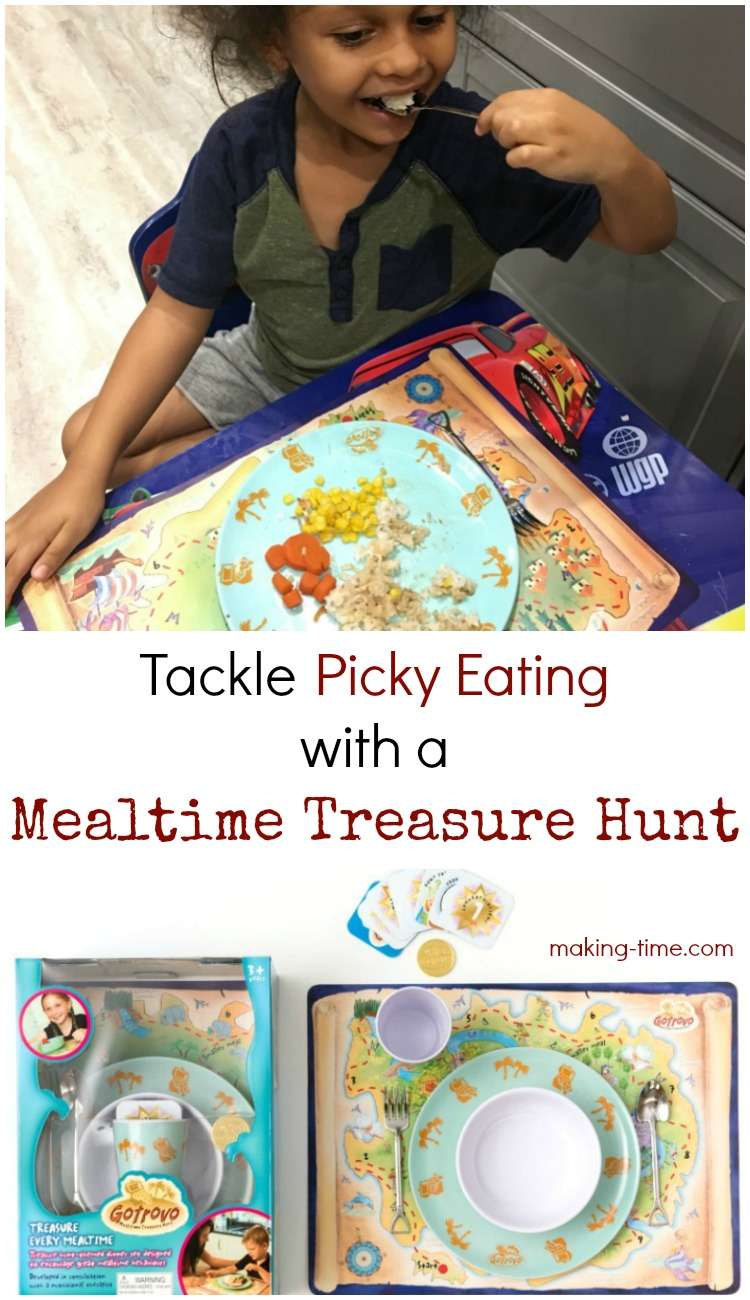 Have a picky eater at home? Me too! The Mealtime Treasure Hunt by Gotrovo has been helping my picky eater try new foods and I couldn't be happier! Head over to the blog to check it out! #Gotrovo #MealtimeTreasureHunt #pickyeater #GotrovoFun