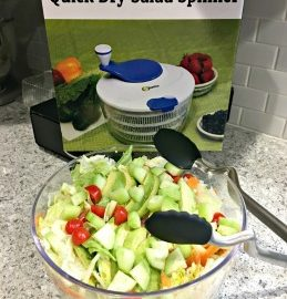 I never realized how much excess water my salads had until I tried the Quick Dry Salad Spinner from Cave Tools. After just one use, it's clear why I'll never make another salad without a few spins in the salad spinner. Head over to the blog to see exactly what I mean. #CaveTools #QuickDrySaladSpinner