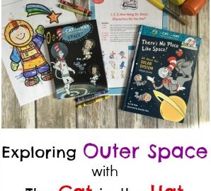 Ready to explore outer space with The Cat in the Hat? Take a look at our outer space week activities and enter to win a Cat in the Hat outer space bundle (DVD and book)! #DrSeuss #TheCatintheHat #NCircleEntertainment #outerspace
