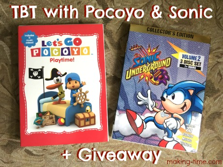 The new Pocoyo and Sonic DVD releases from NCircle Entertainment this month really have me reliving my childhood. It's been a real blast from the past! #TBT #Pocoyo #SonictheHedgehog #SonicUnderground #NCircleEntertainment #Giveaway