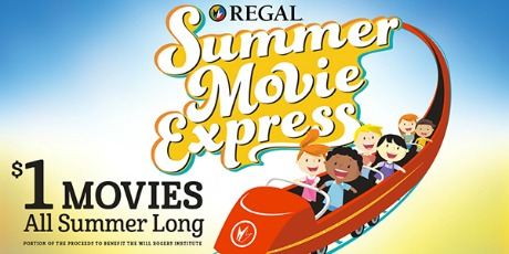 Check out the schedule for the Regal Summer Movie Express and enjoy $1 family movies all summer long! #summerfun #SummerMovieExpress