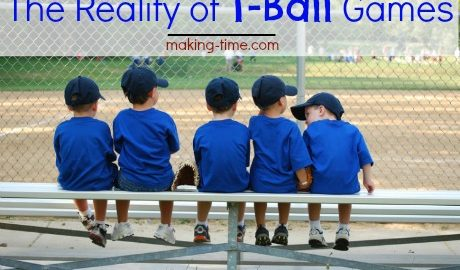 The Reality of T-Ball Games #tball
