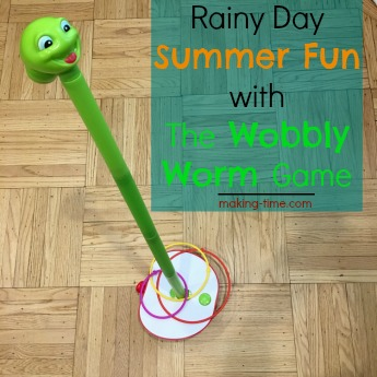 Rainy Day Summer Fun with The Wobbly Worm Game #SummerFun #SpinMaster #TheWobblyWormGame #rainydayfun