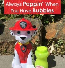 What is summer fun without bubbles? This PAW Patrol Action Bubble Blower from makes blowing bubbles easier than ever and without as much sticky mess! Head over to the blog and check it out! #PAWPatrol #LittleKids #SummerFun #bubbles #bubblefun