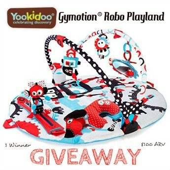 Enter to win a Yookidoo Gymotion Robo Playland ($100 RV)! Giveaway ends 7/22! #giveaway #Yookidoo #playmat