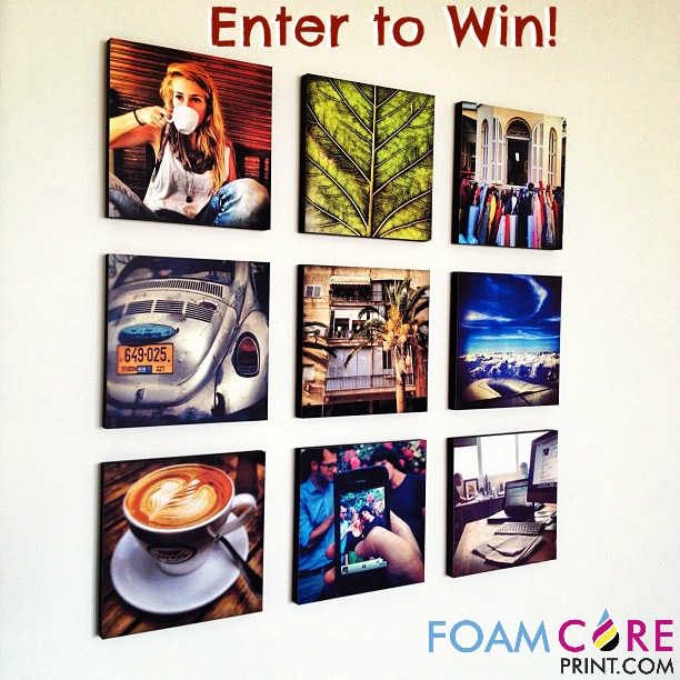 Enter to win 3, 8x8 Gatorboard Prints from FoamCorePrint.com! #gatorboard #foamboard #FoamCorePrint #giveaway