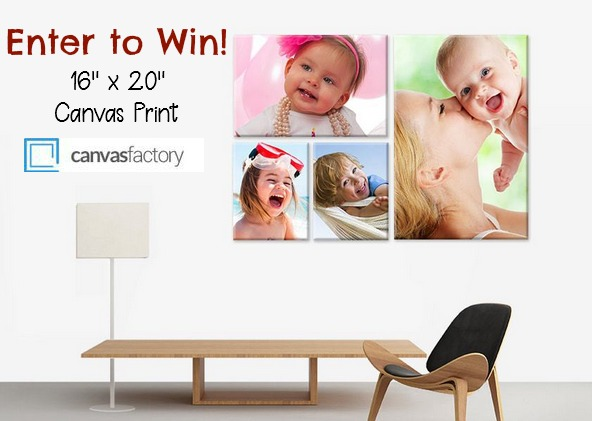 "Enter to win a 16"" x 20"" canvas print from Canvas Factory! 