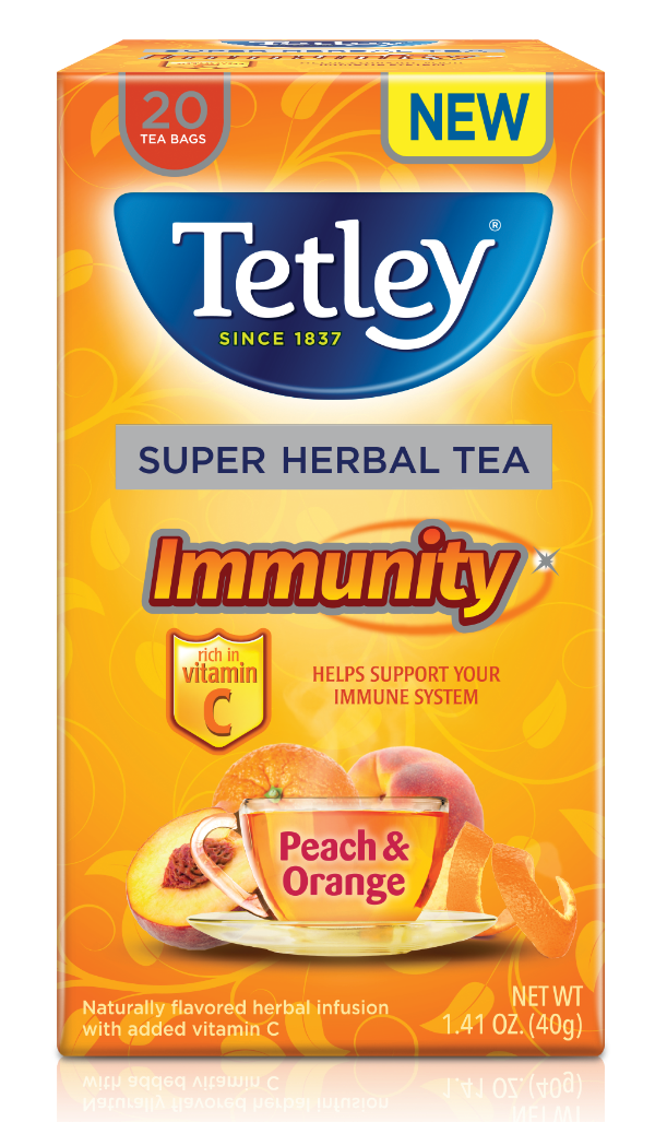 Sparkling Peach Iced Super Tea | #Tetley #supertea #peach #drink #recipe