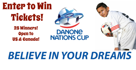 Danone Nations Cup World Final Tickets Giveaway [25 Winners] | #DNC2017 #BelieveInYourDreams #DanoneNationsCup #soccer