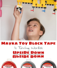 Mayka Toy Block Tape is Turning Worlds Upside Down | #Zuru #MaykaTape #giftidea #HolidayGiftGuide #LEGO