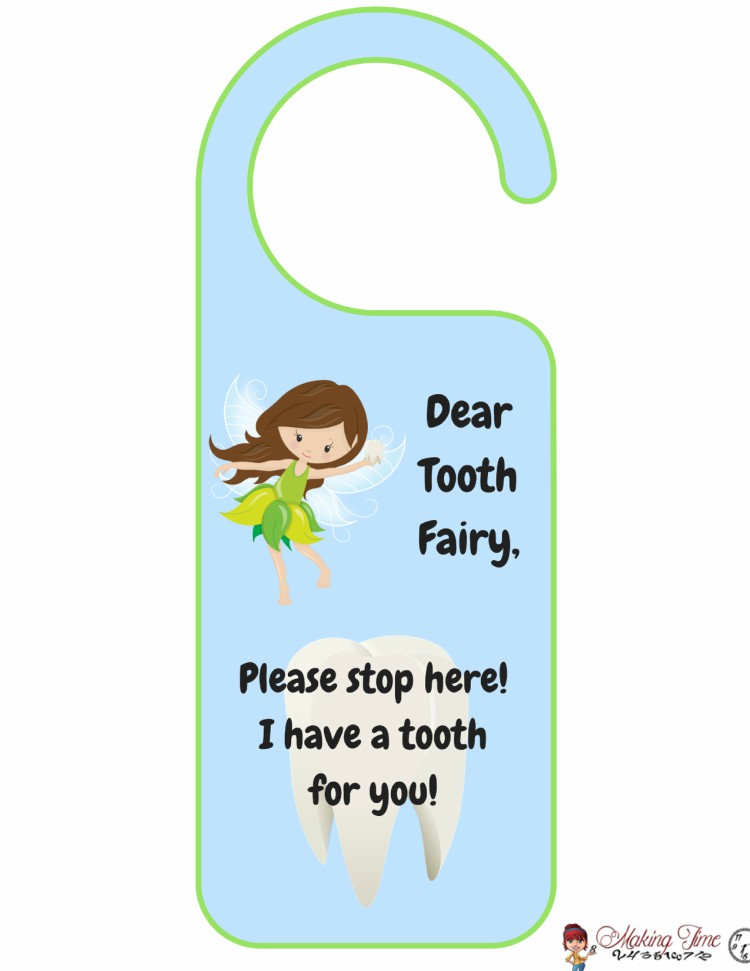 Free Tooth Fairy Printable | #ToothFairy #lostatooth #babyteeth