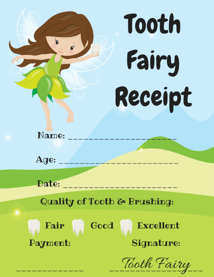 image regarding Free Printable Tooth Fairy Receipt named Cost-free Teeth Fairy Printables - Manufacturing Year for Reminiscences
