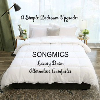 A Simple Bedroom Upgrade with a SONGMICS Luxury Down Alternative Comforter | #SONGMICS #comforter