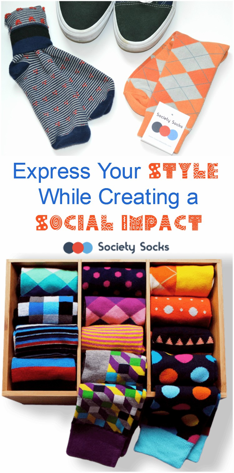 Express Your Style While Creating a Social Impact | #SocietySocks #subscription #donate