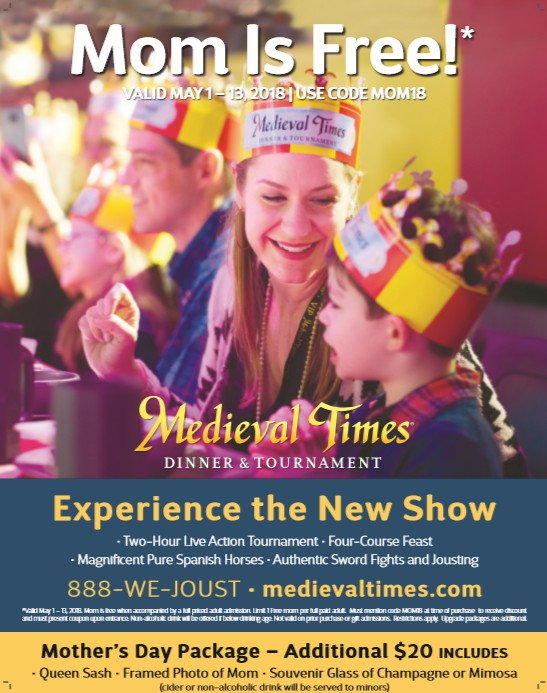 Mom is the Queen This Mother's Day at Medieval Times | #MothersDay #MedievalTimes #giveaway