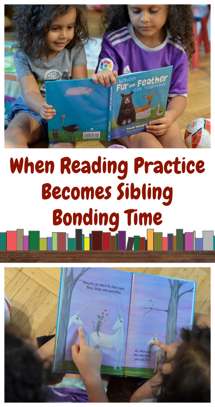 When Reading Practice Becomes Sibling Bonding Time | #reading #WhenFurandFeatherGetTogether #kidbooks