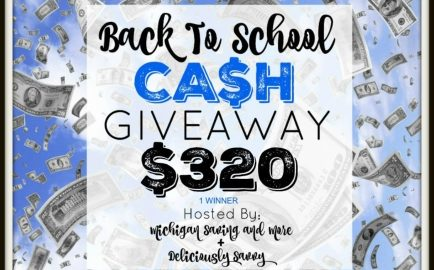 Back to School Cash Giveaway - Win $320 CASH! | #backtoschool #BTS #cash #giveaway #BTSCash
