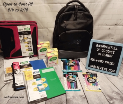 Back to School Backpack Full of Goodies Giveaway | #backtoschool #giveaway