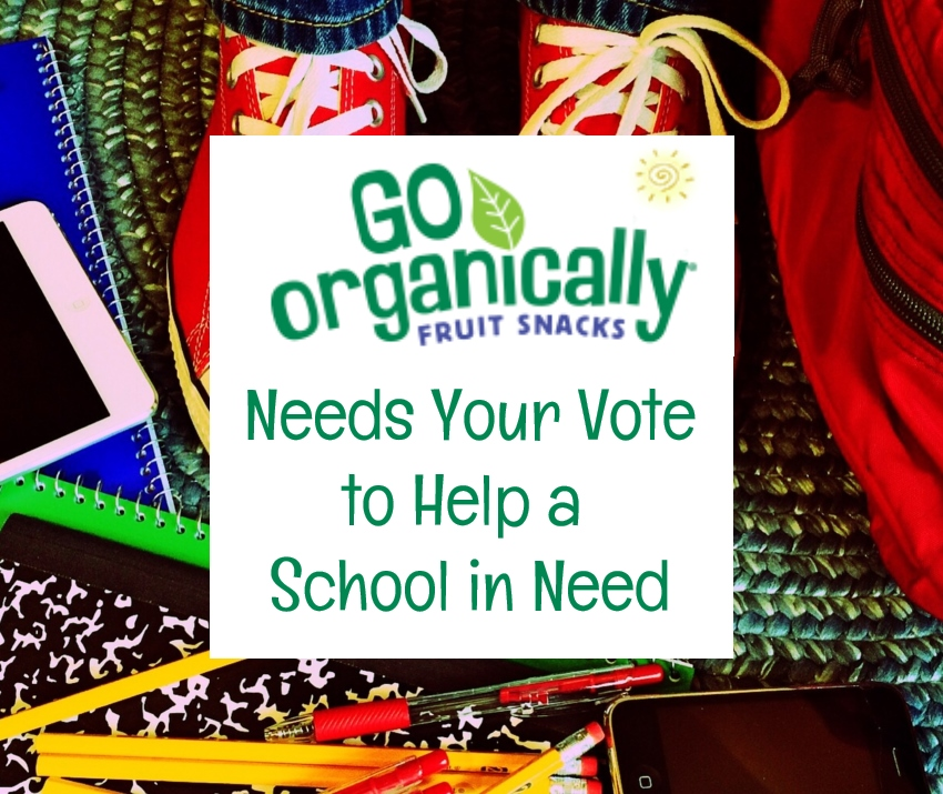 Go Organically Fruit Snacks Needs Your Vote to Help a School in Need + Giveaway | #GOGivesBack #giveaway #backtoschool