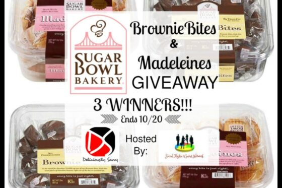 Sugar Bowl Bakery Brownie Bites & Madeleines Giveaway (3 Winners) | #giveaway #SugarBowlBakery