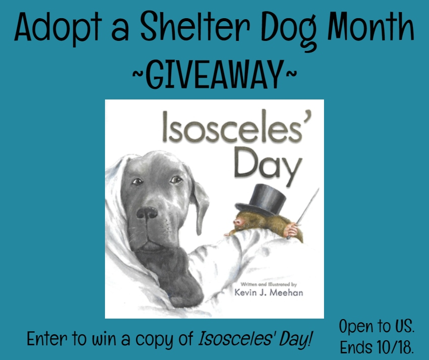 Adopt a Shelter Dog Month | Isosceles' Day Book Giveaway | #giveaway #adoptashelterdogmonth #adoptdontshop #IsoscelesDay