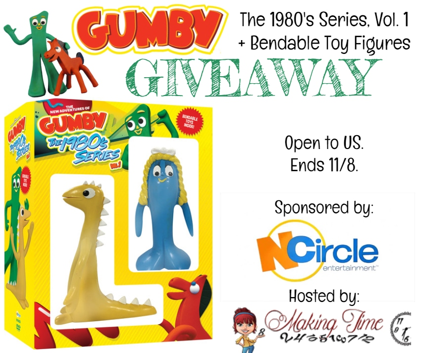 The New Adventures of Gumby: The 1980's, Volume 1 + Bendable Toys Giveaway | #Gumby #Giveaway #DVD #NCircleEntertainment