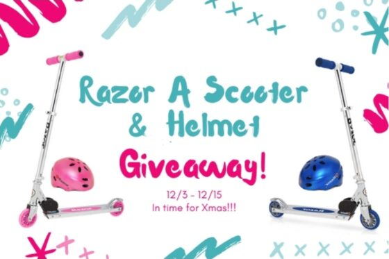 Razor 'A' Scooter & Helmet Giveaway | #razorscooter #giveaway #giftideas #giftsforkids
