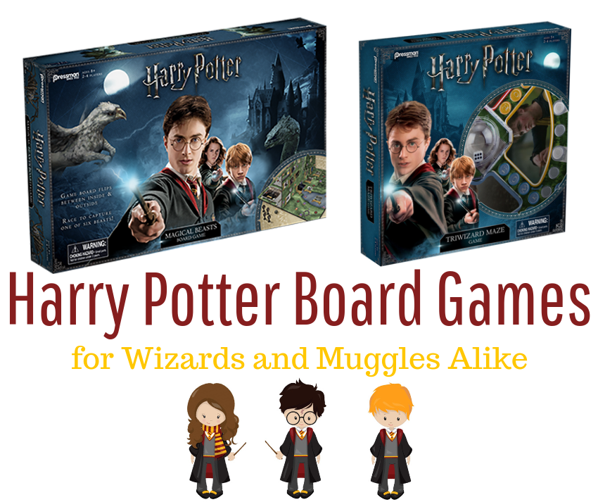 Harry Potter Board Games for Wizards and Muggles Alike ~ #HarryPotter #gamenight #boardgames #PressmanToy