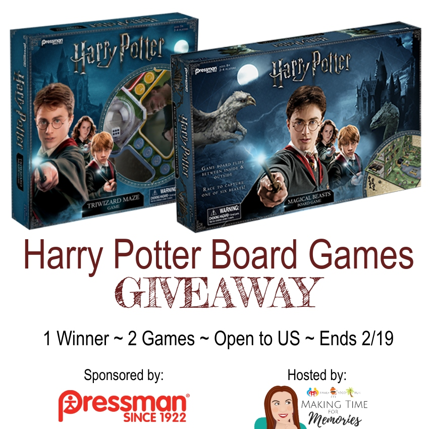 Enter to win the Harry Potter Tri-Wizard Maze Game & Harry Potter Magical Beasts Game from Pressman Toy! ~ #HarryPotter #gamenight #giveaway