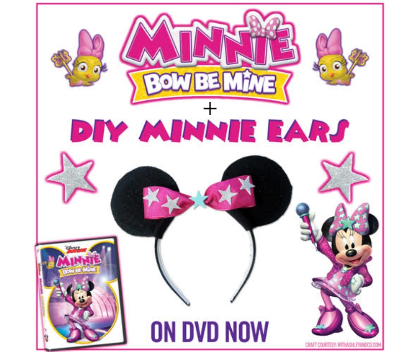 """Minnie: Bow Be Mine"" + DIY Minnie Ears ~ #MinnieMouse #MinnieMouseEars #DIY #DVD #HappyHelpers"