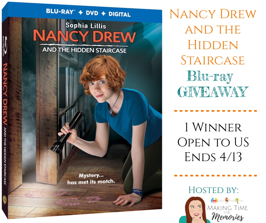 """Nancy Drew and the Hidden Staircase"" Blu-ray Giveaway ~ #NancyDrew #TheHiddenStaircase #giveaway"