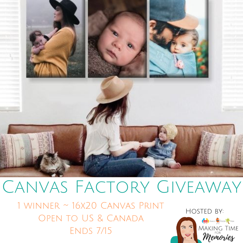 Enter to win a 16x20 canvas print from Canvas Factory! #CanvasFactory #giveaway #canvasprint #familymemories